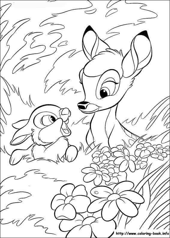 coloring pages of bambi,printable,coloring pages