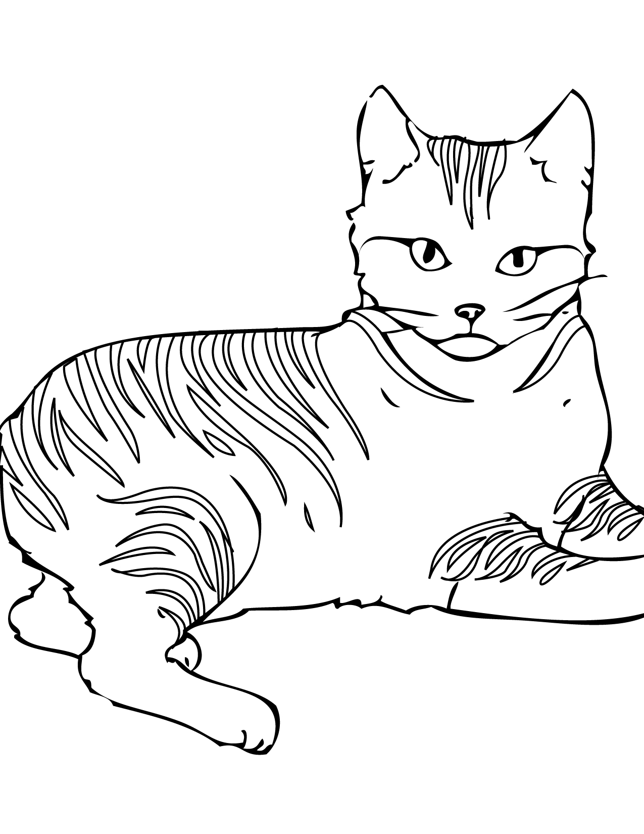 cat coloring pages for kids,printable,coloring pages