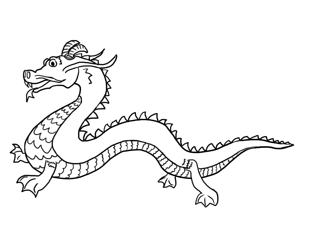chinese-dragon coloring page,printable,coloring pages