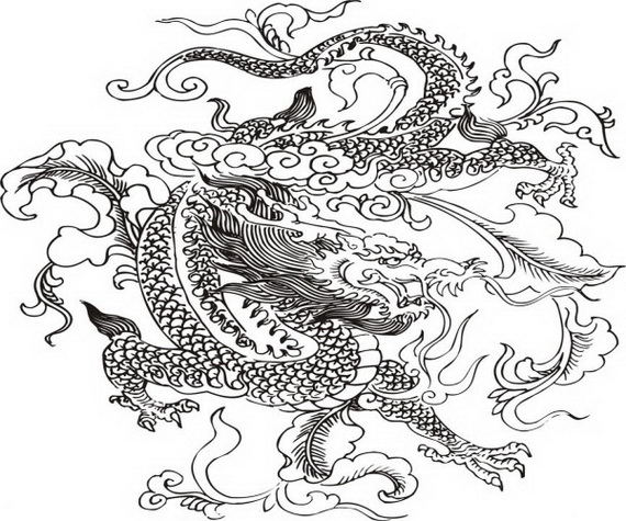 chinese-dragon coloring pages 12,printable,coloring pages