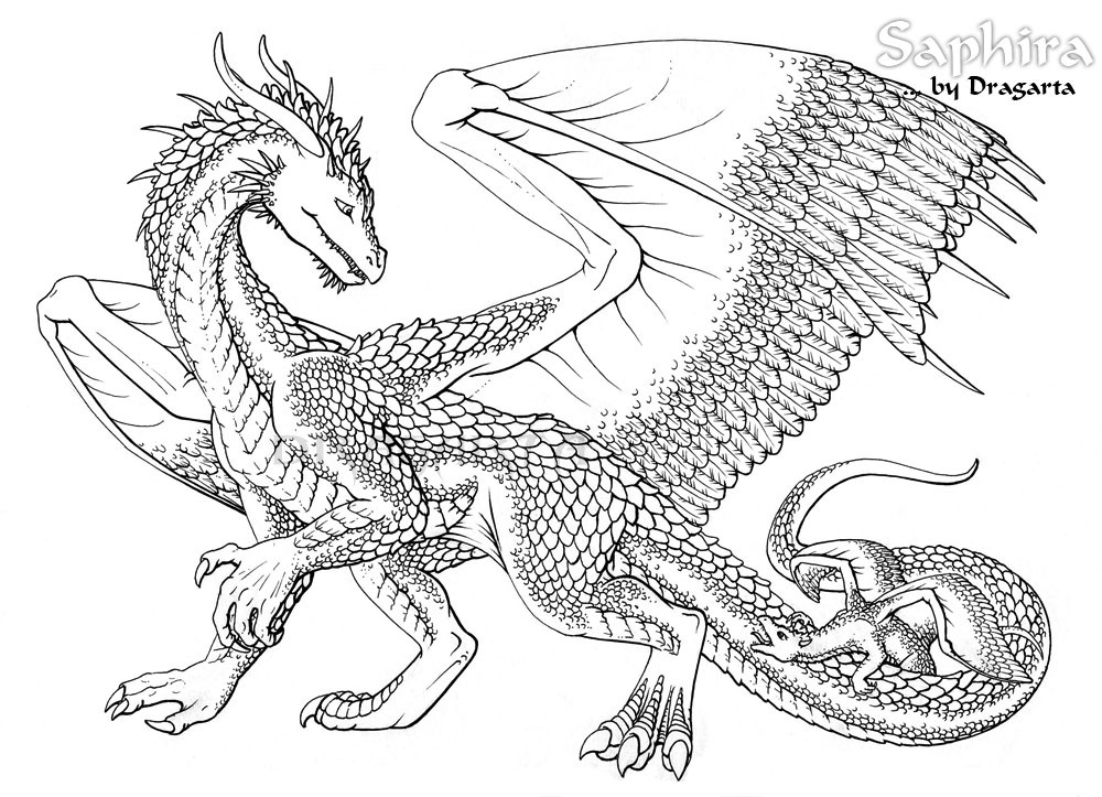 15 printable pictures of chinese dragon page
