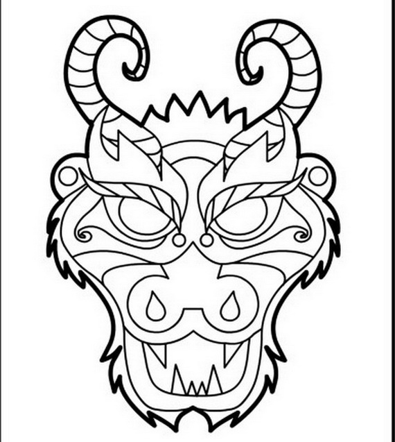 chinese-dragon coloring pages for kids,printable,coloring pages