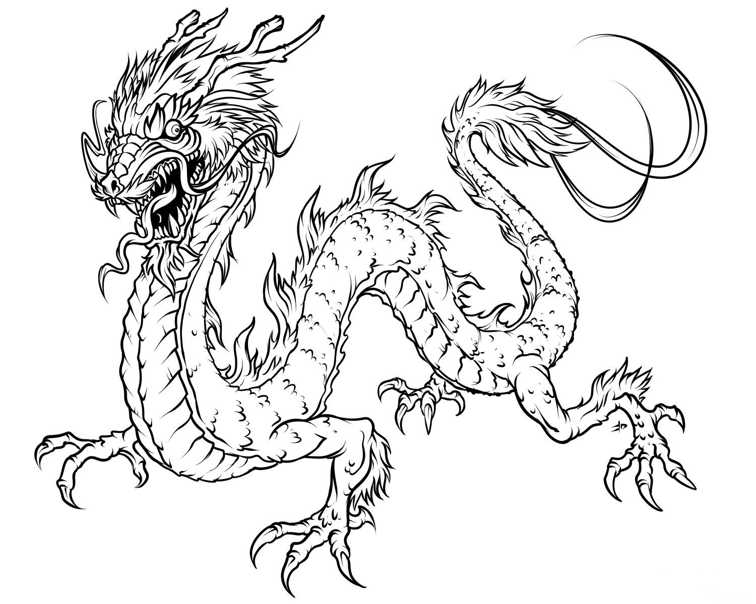 coloring pages of chinese-dragon,printable,coloring pages