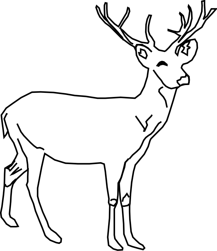 deer coloring pages 13,printable,coloring pages