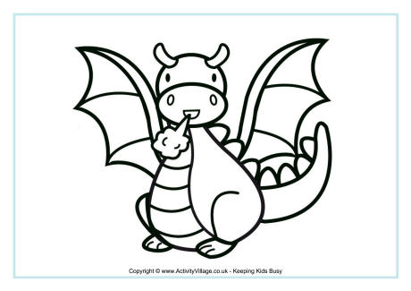 Mythological Dragons 35 Dragon coloring pages and pictures Print