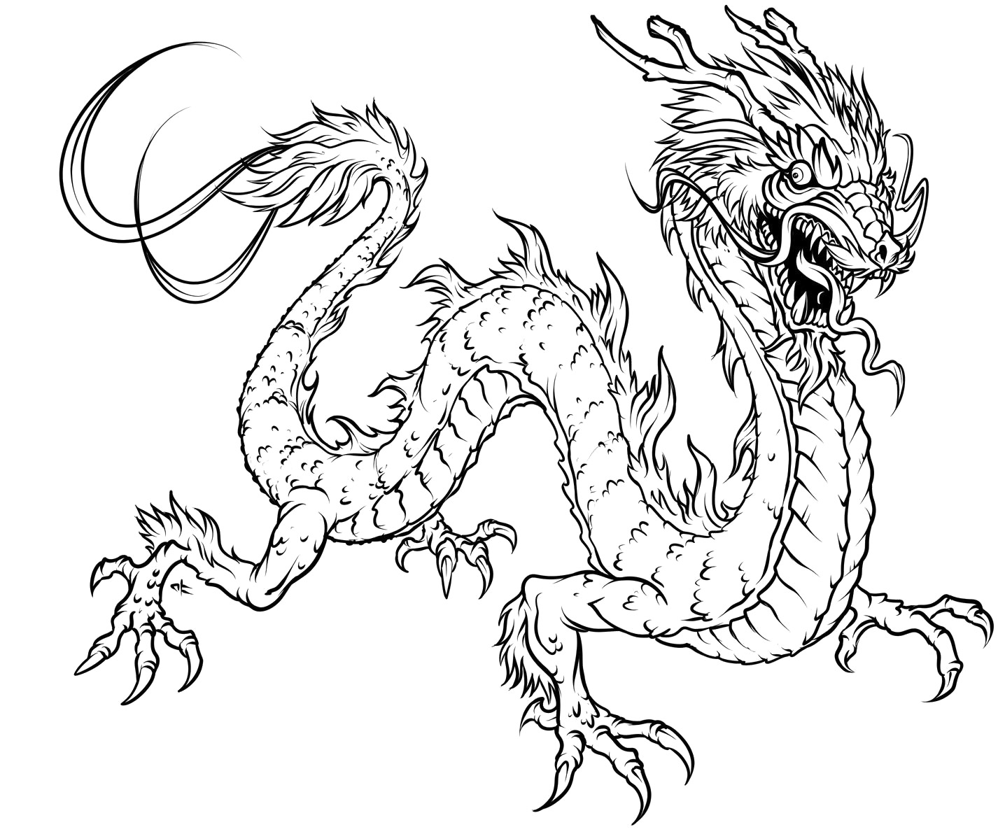 dragon coloring pages for kidsprintablecoloring pages