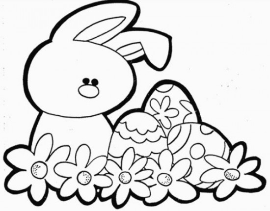 easter bunny coloring pageprintablecoloring pages - Easter Color Pages