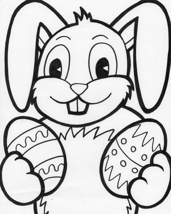 12 easter bunny coloring pages printable