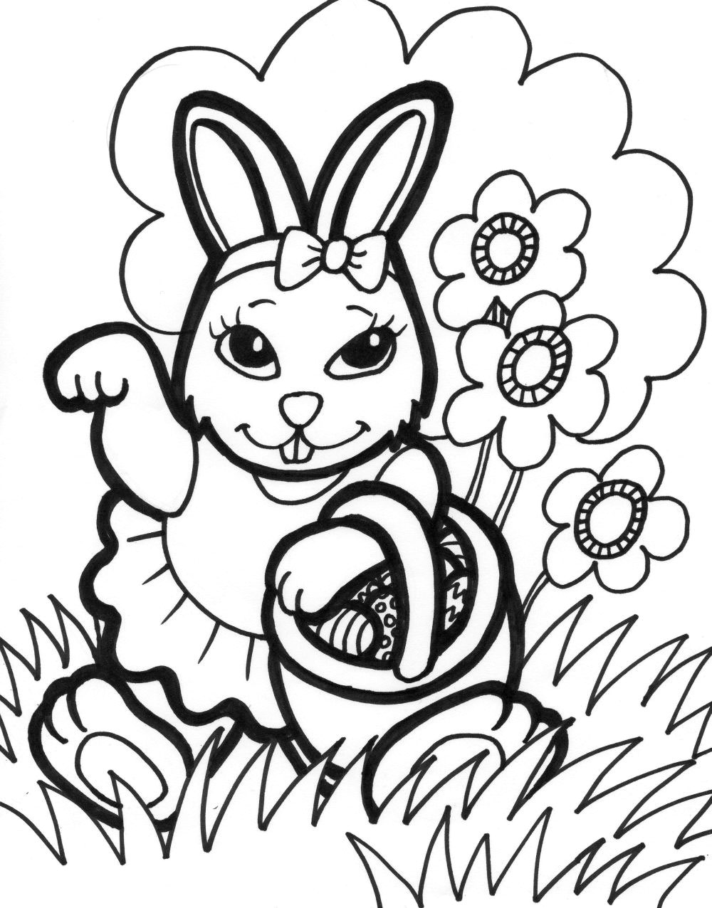 easter-bunny coloring pages for kids,printable,coloring pages