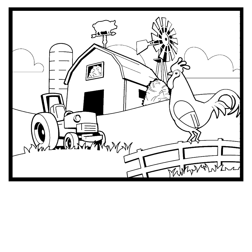 coloring pages of farm,printable,coloring pages