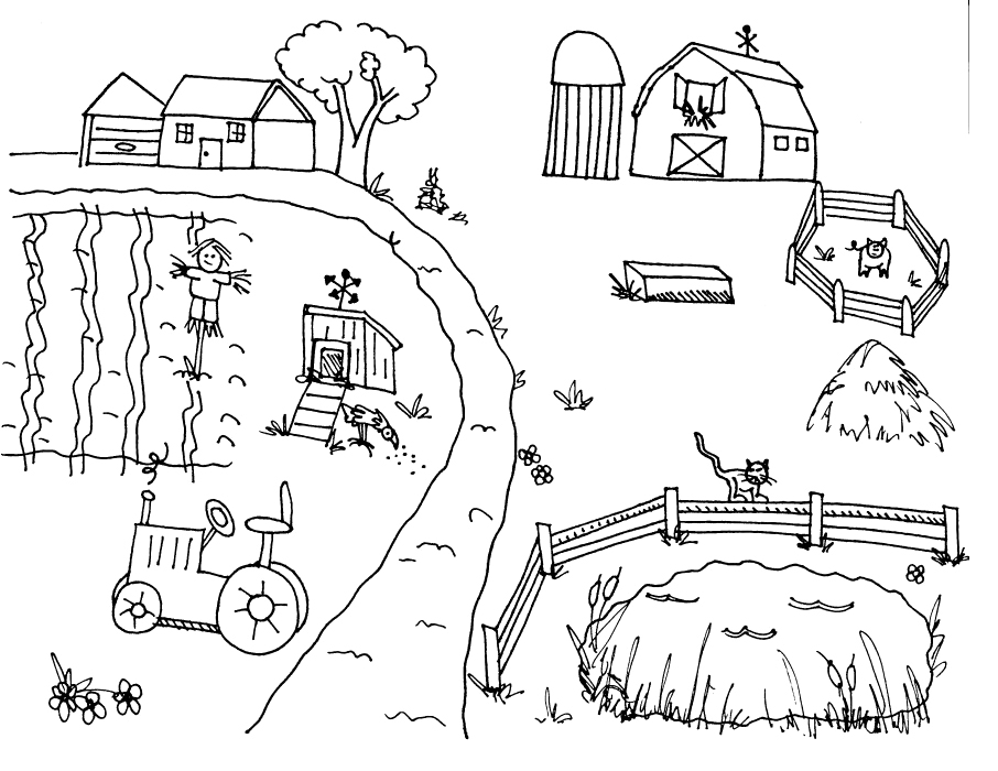 coloring pictures farm,printable,coloring pages