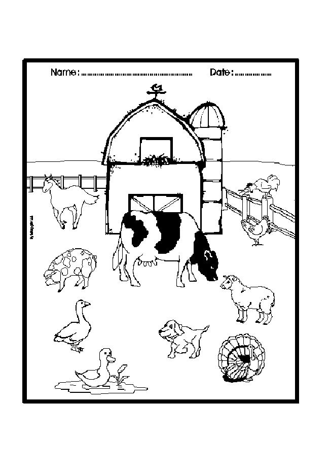 farm coloring page,printable,coloring pages