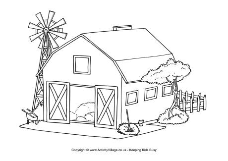 farm coloring page to printprintablecoloring pages - Farm Coloring Pages