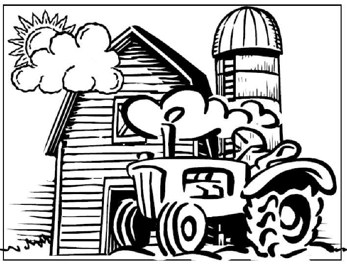 16 kids coloring pages farm