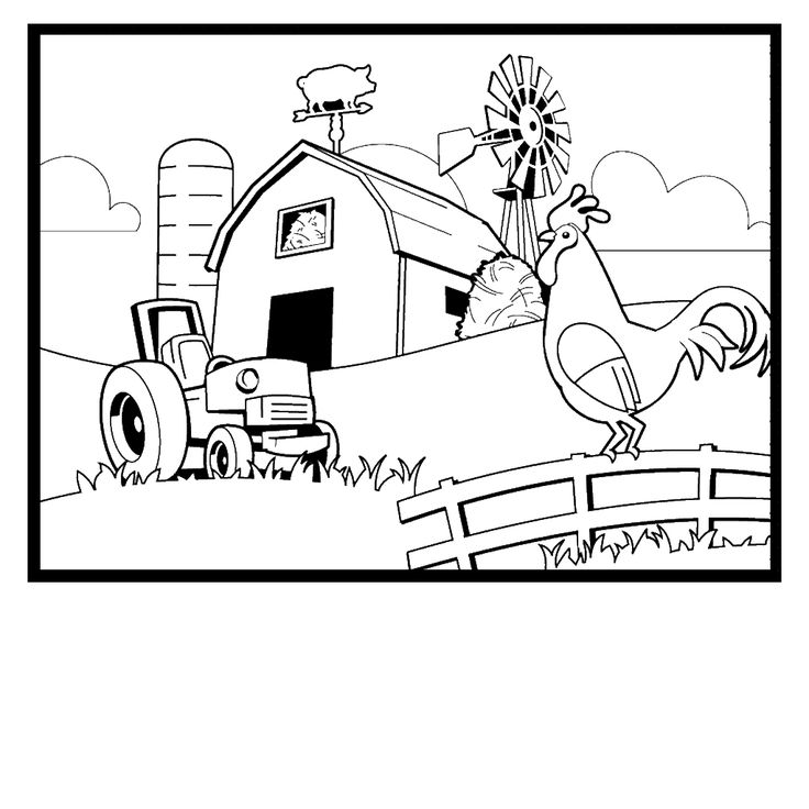 Free Printable Farm Animal Coloring Pages For Kids | 736x736