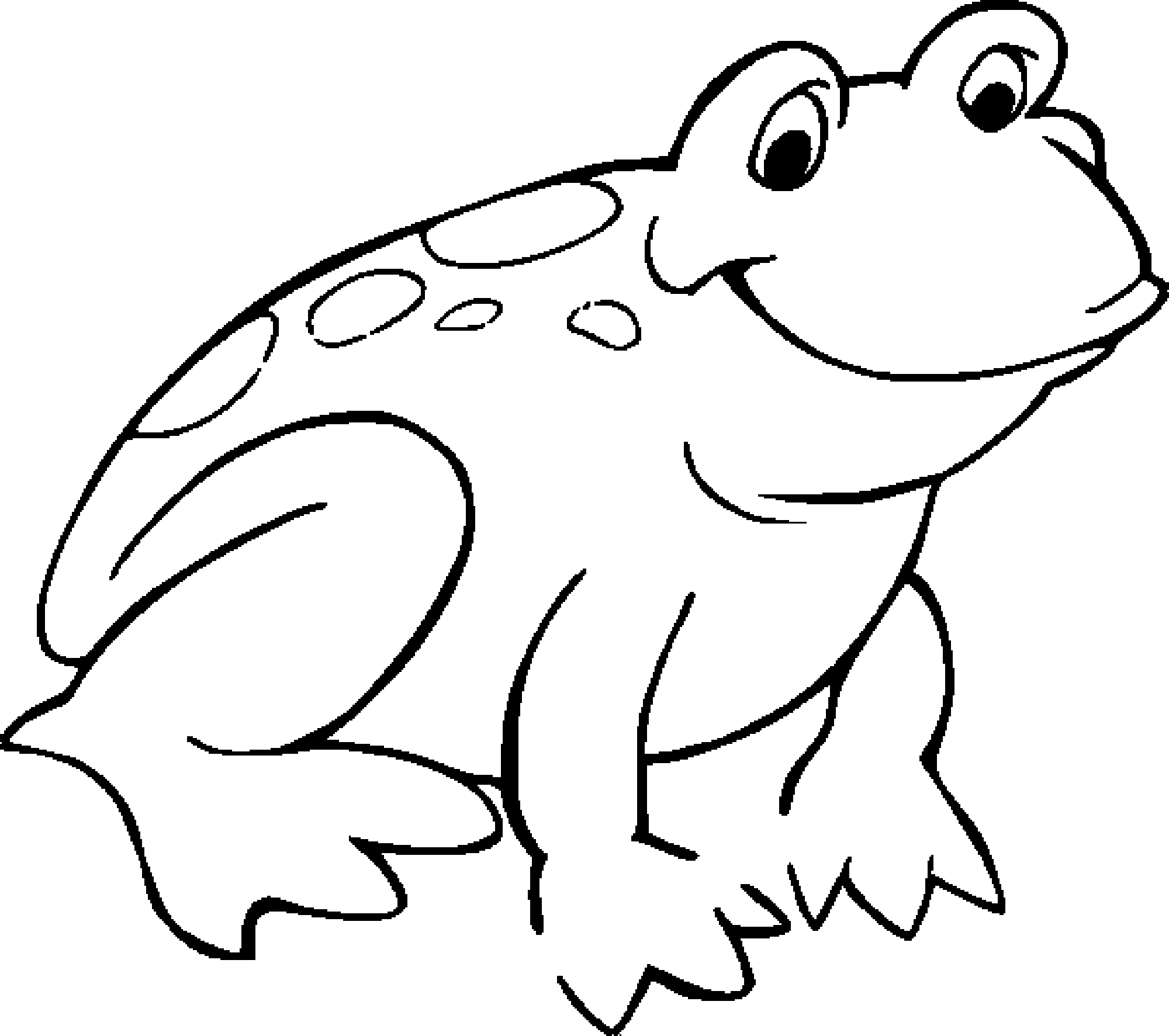 15 frog coloring pages print color craft for Free printable frog coloring pages
