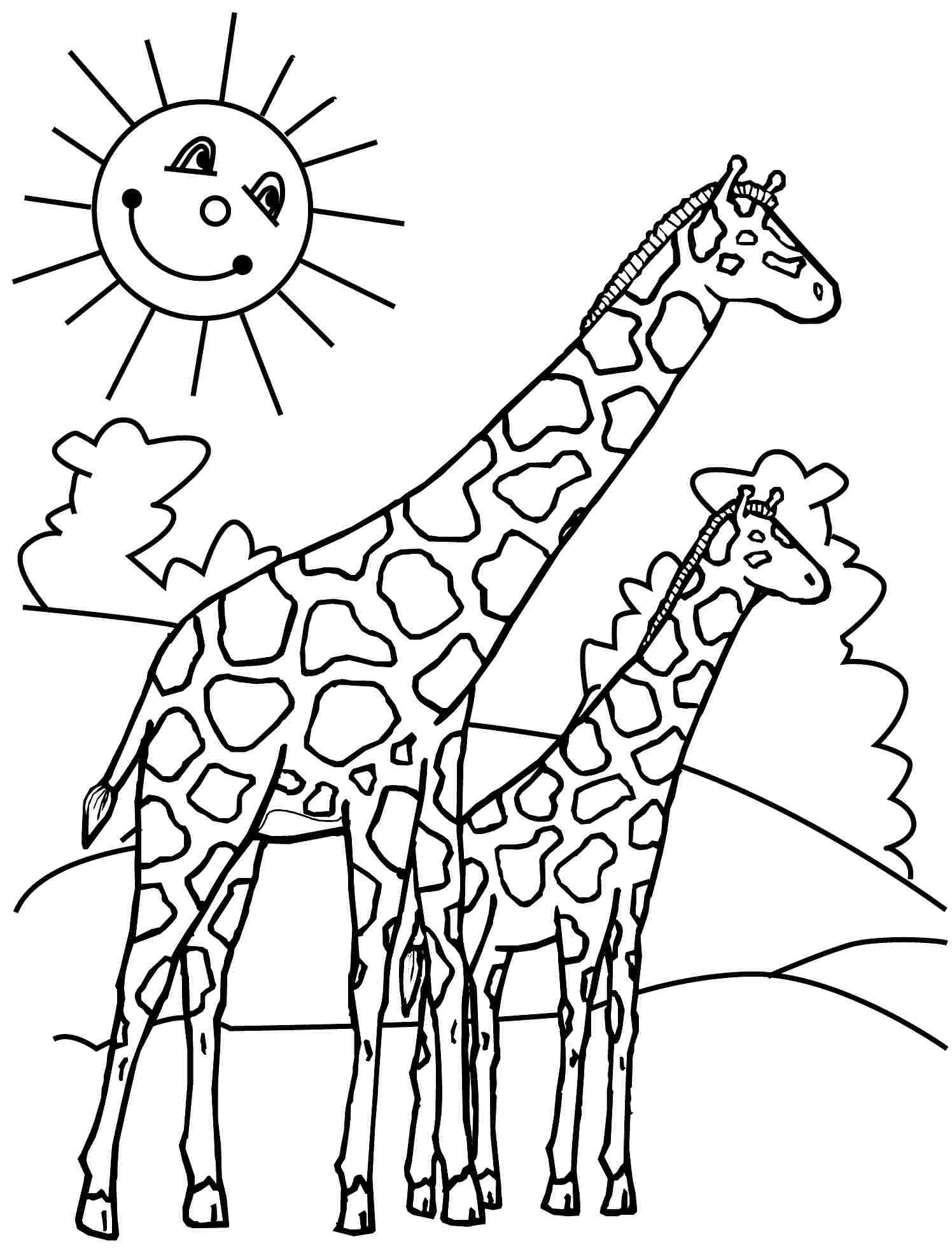 - 14 Coloring Pages Of Giraffe - Print Color Craft Print Color Craft
