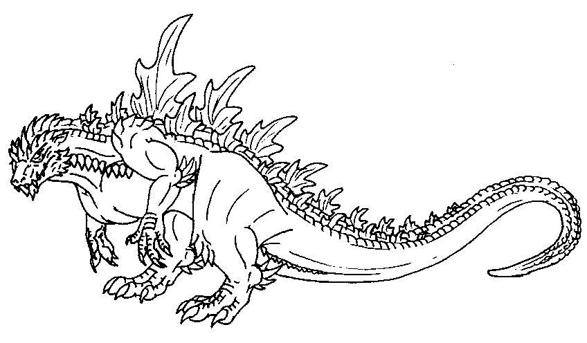 Godzilla 2014 Coloring Page - Coloring Home | 496x848