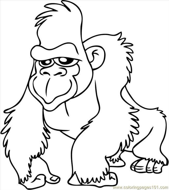 gorilla coloring pages,printable,coloring pages