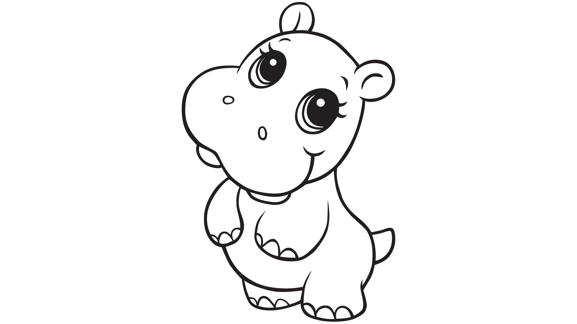 hippo coloring page,printable,coloring pages