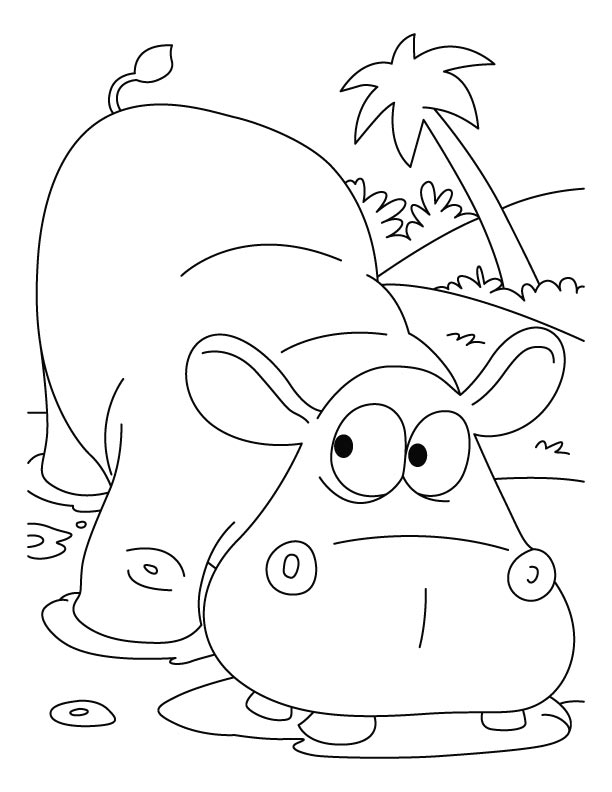 kids coloring pages hippo,printable,coloring pages