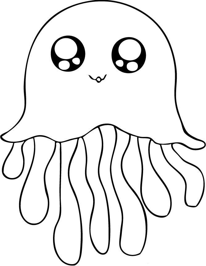 coloring pages of jellyfish,printable,coloring pages