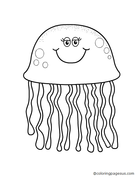 jellyfish coloring pages 11,printable,coloring pages