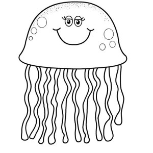 printable pictures of jellyfish page,printable,coloring pages