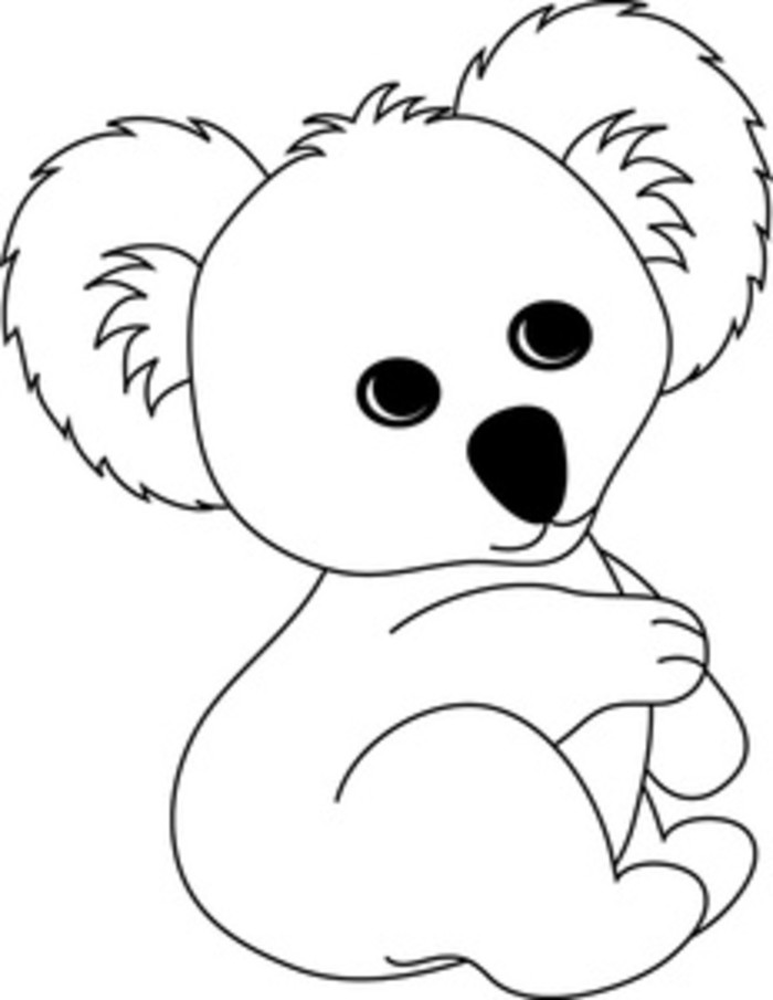 k is for koala bear coloring pages - photo #25