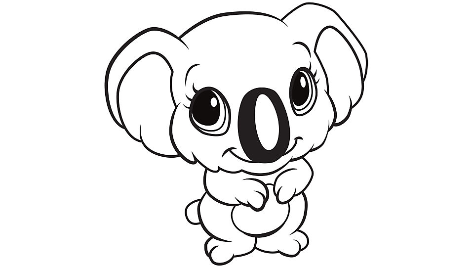 koala coloring page to print,printable,coloring pages