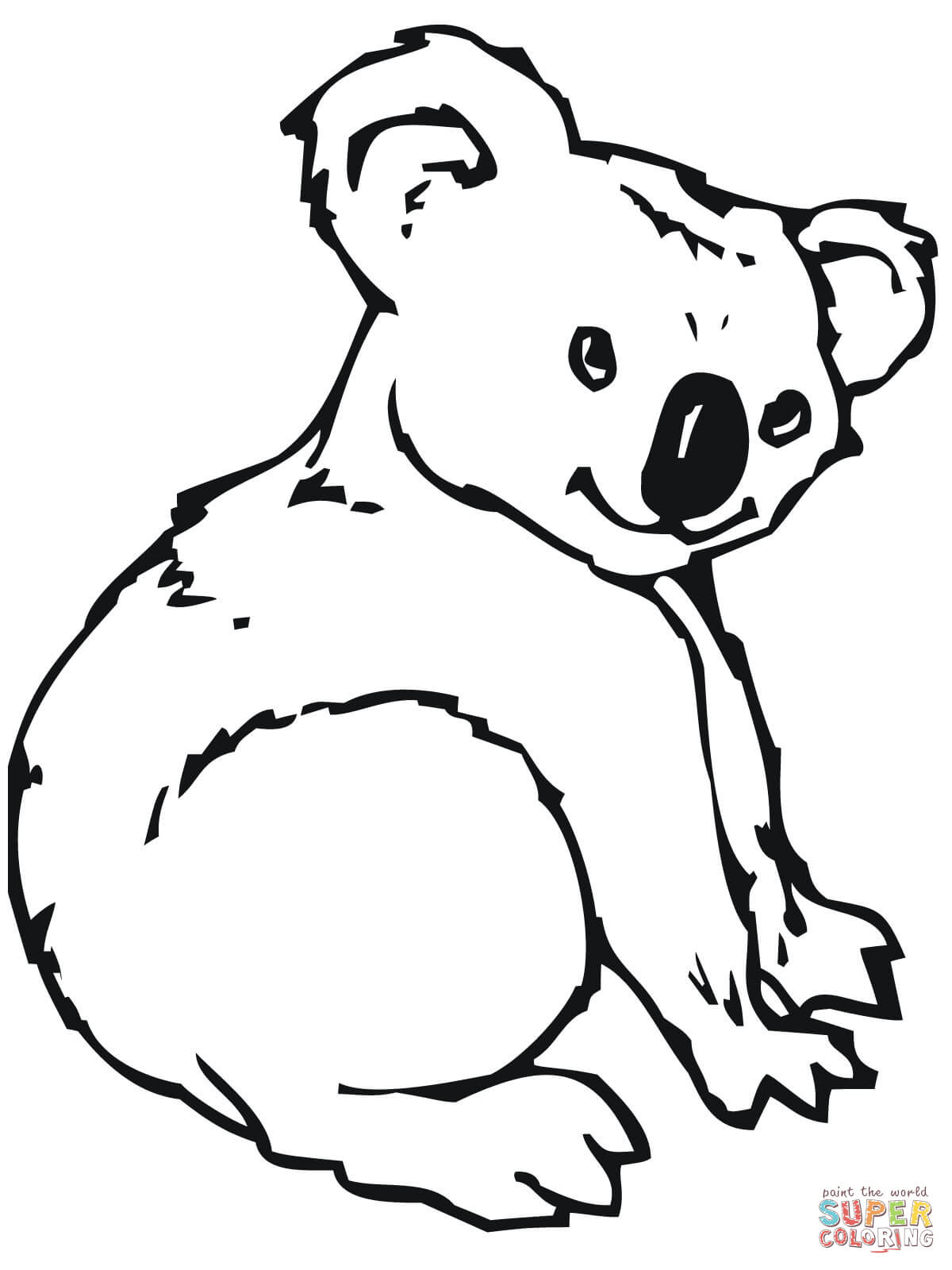 koala coloring pages 11,printable,coloring pages