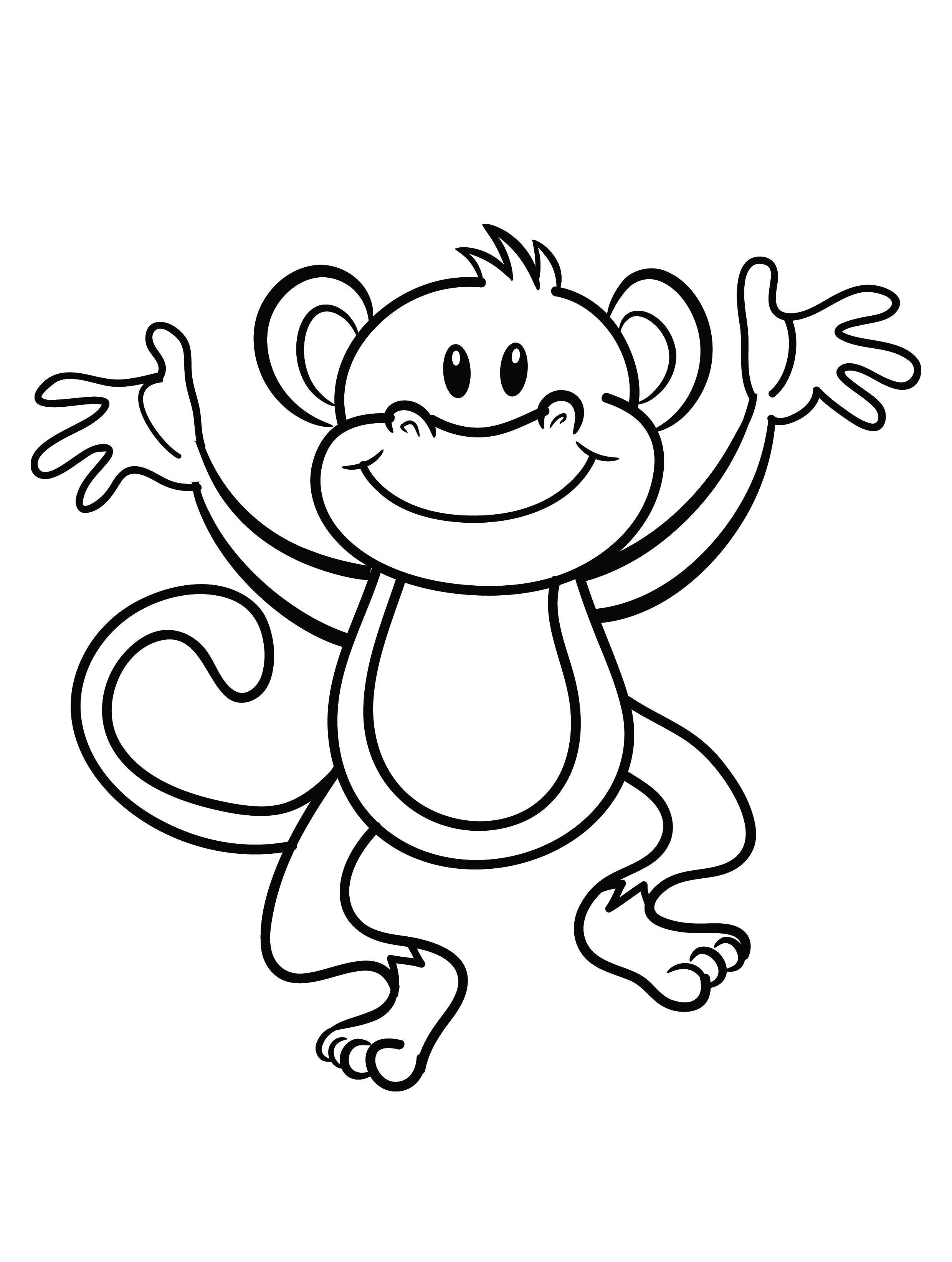 coloring pages of monkey,printable,coloring pages