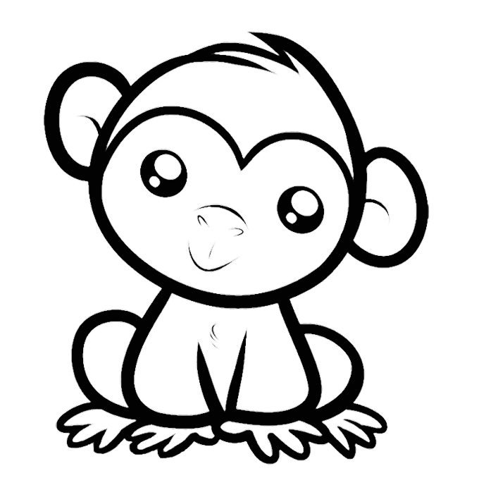 kids coloring pages monkey,printable,coloring pages