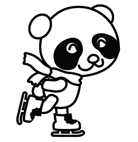 26 kids coloring pages panda - Panda Coloring Page