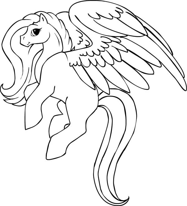 pegasus coloring page to print,printable,coloring pages