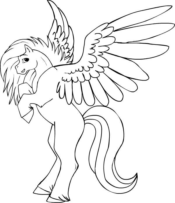simple pegasus coloring pages eassumecom with baby unicorn coloring pages - Cute Baby Unicorns Coloring Pages