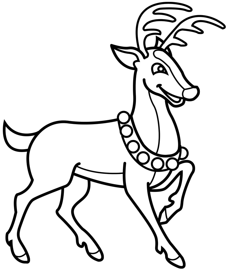 reindeer coloring page,printable,coloring pages