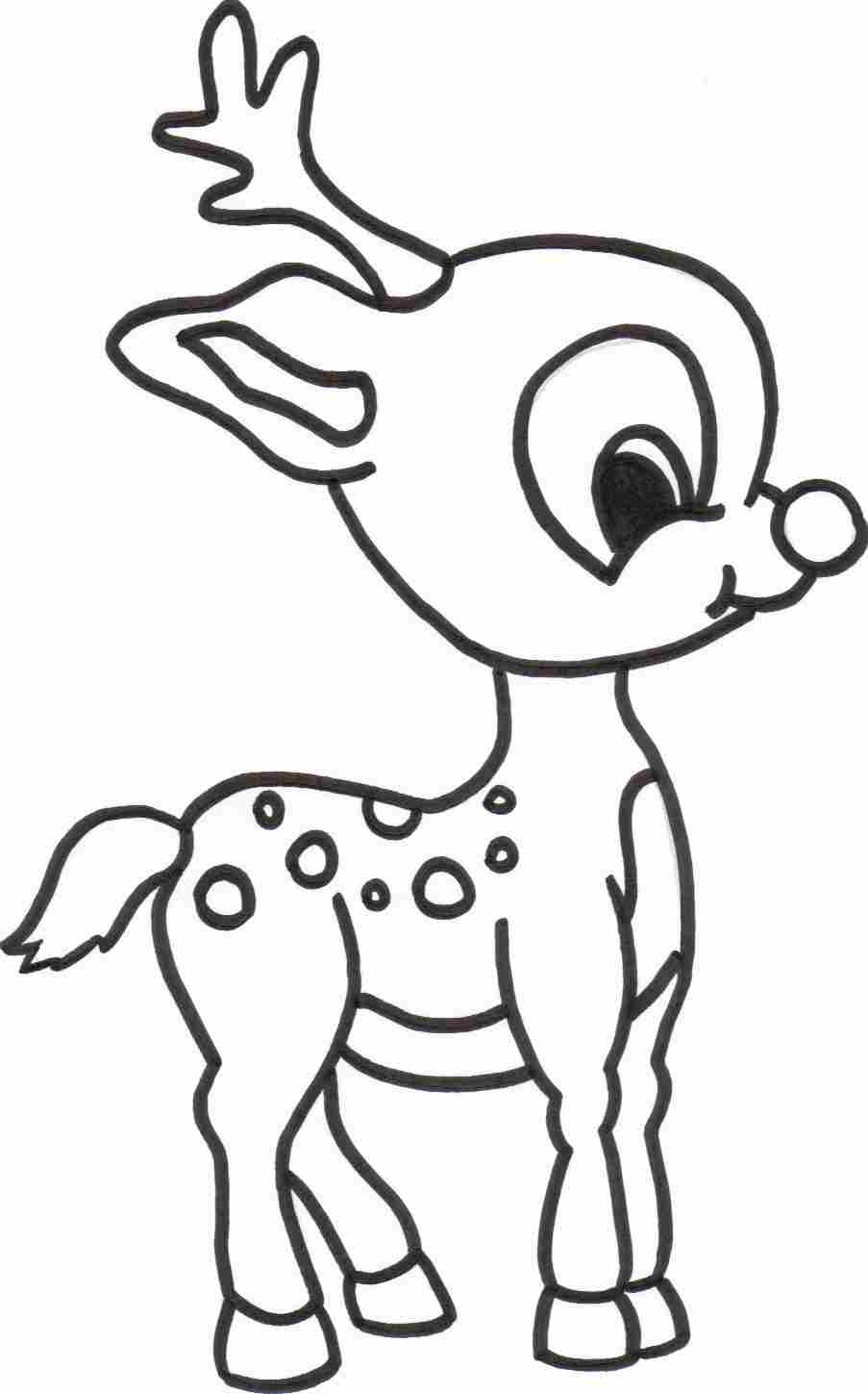 reindeer coloring pages for kids,printable,coloring pages
