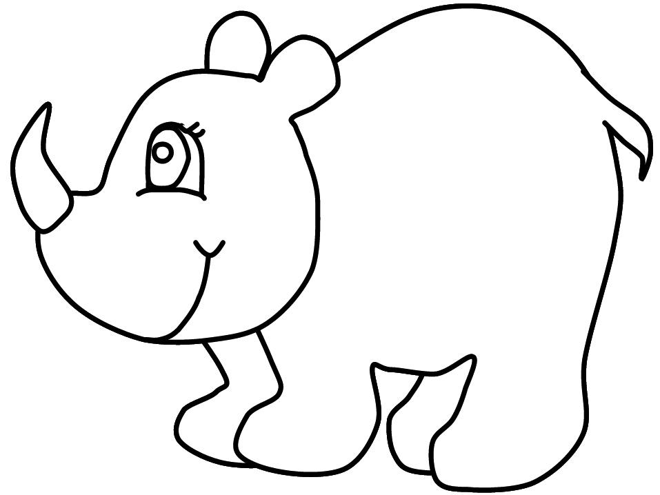 Rhinoceros Coloring Page - Eskayalitim