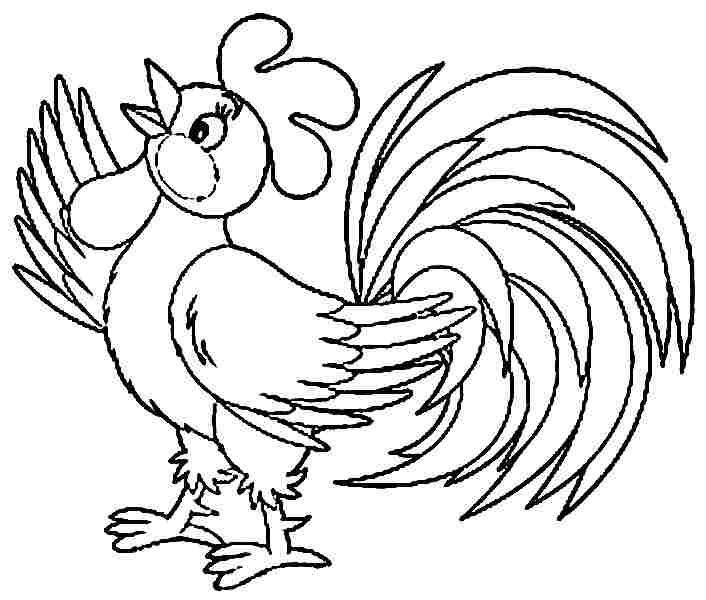 Morning bird 14 rooster coloring pages - Print Color Craft