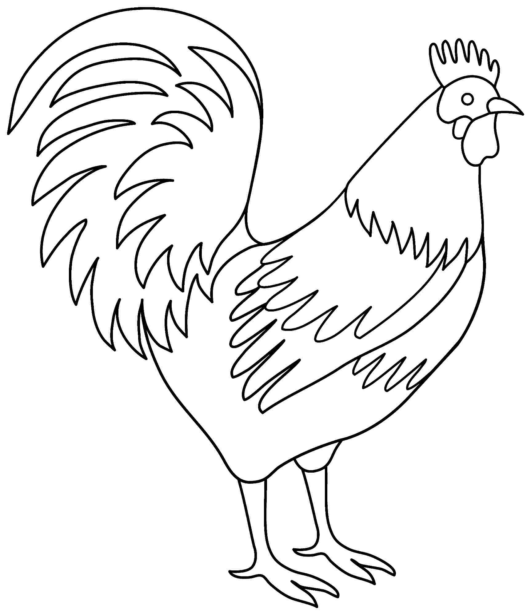 rooster coloring pages printable,printable,coloring pages