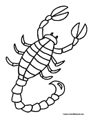 scorpion coloring pages 12,printable,coloring pages