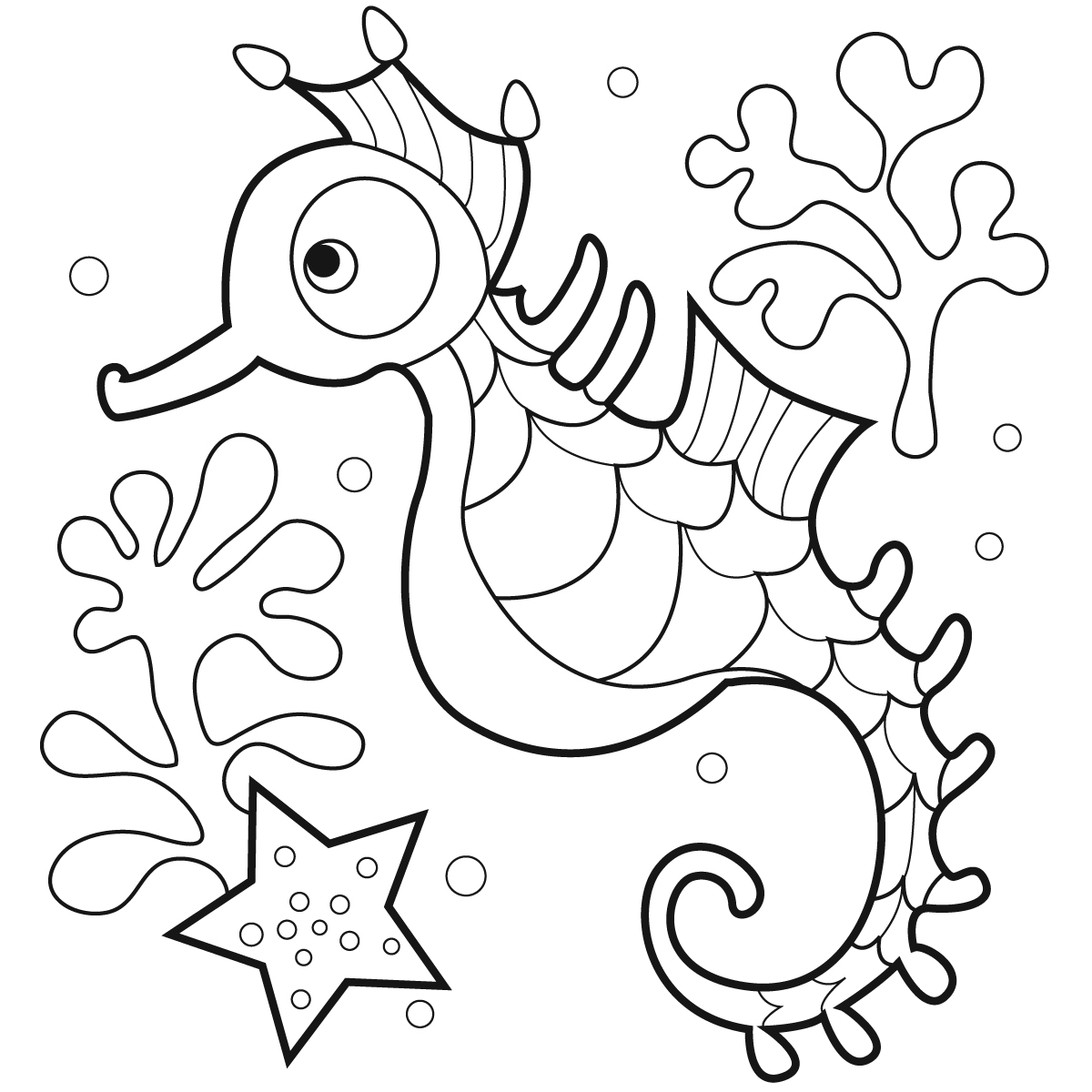 seahorse coloring pages for kids,printable,coloring pages