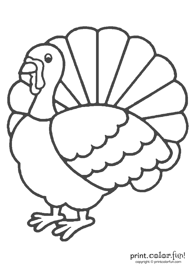 Uncategorized Turkey Printout 12 turkey coloring pages to print and color craft pictures turkeyprintablecoloring pages