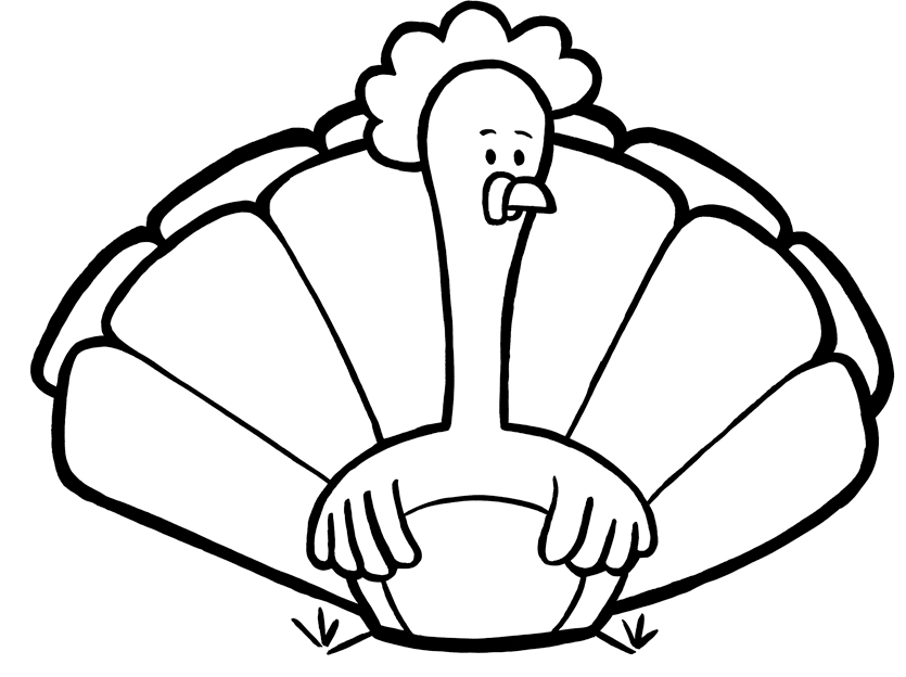 12 Turkey coloring pages to print and color