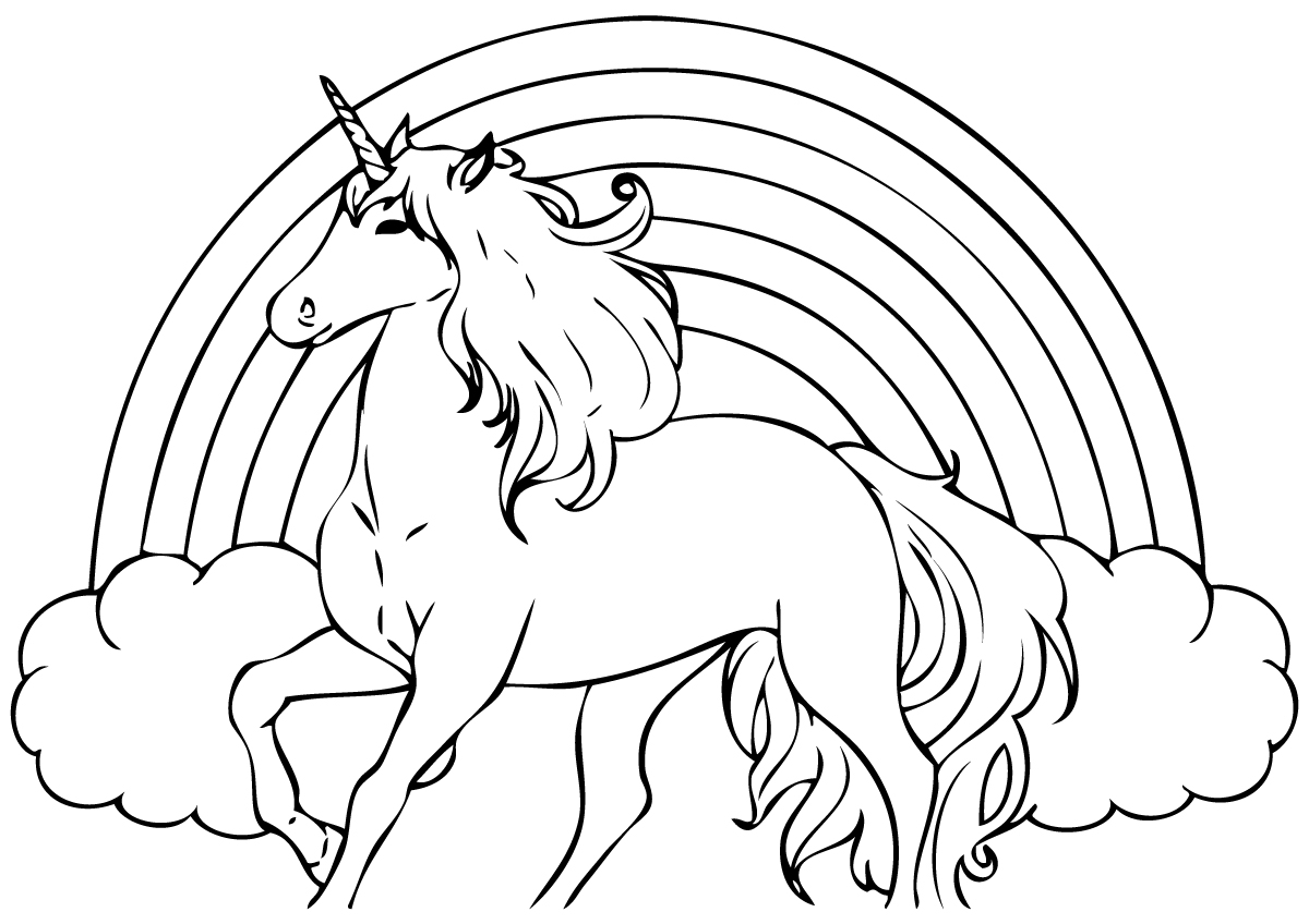 14 unicorn coloring pages Print