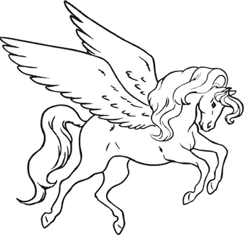 It is a graphic of Printable Unicorn Coloring Pages inside pegasus