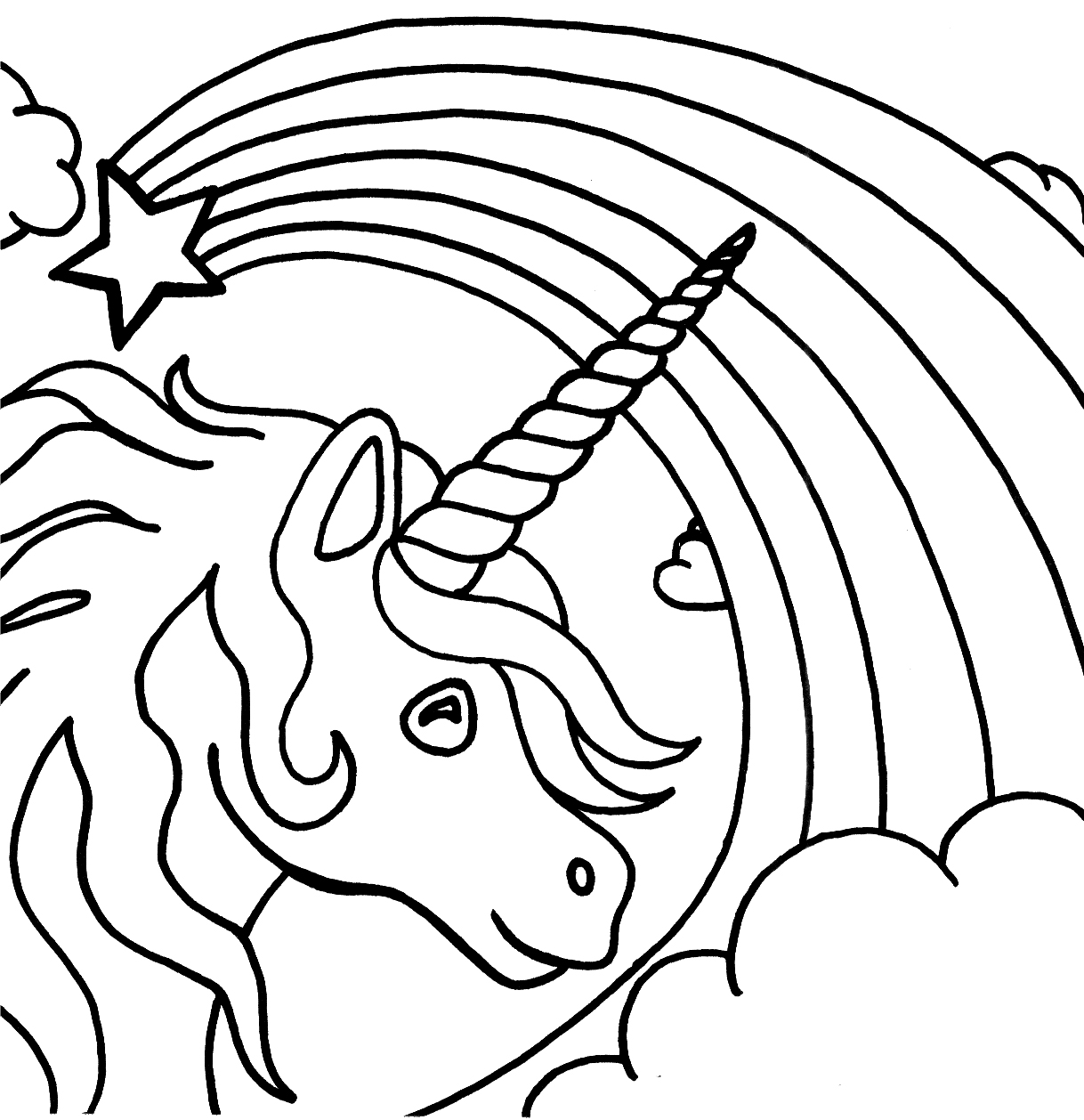 unicorn coloring page to print,printable,coloring pages