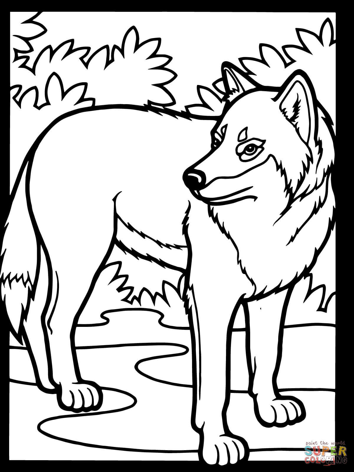 wolf coloring pages for kids,printable,coloring pages