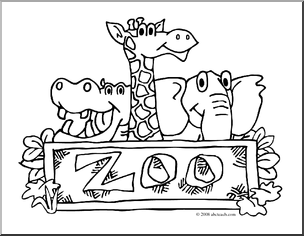 Zoo Coloring Pages For Preschoolers